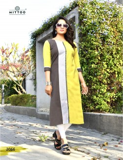 PRIYAL BROWN RED TAND YELLOW KURTI